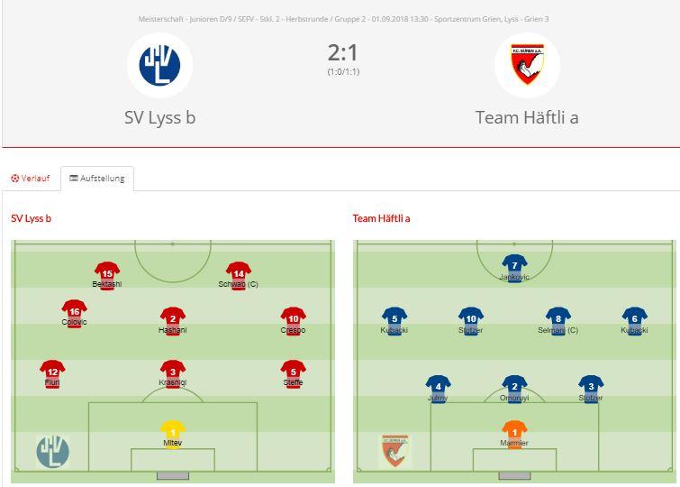SV Lyss Db – Team Häftli a